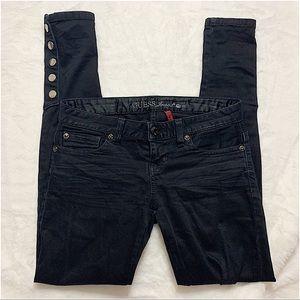 GUESS   Black semi high waist skinny jeans size 25